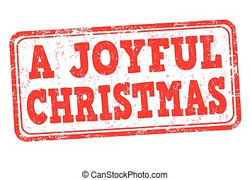 A joyful Christmas sign or stamp