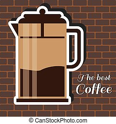 A jug of coffee, with the best coff