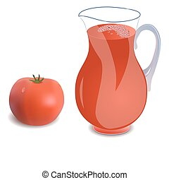 A jug of tomato juice - A jug of tomato juice or a cocktail...