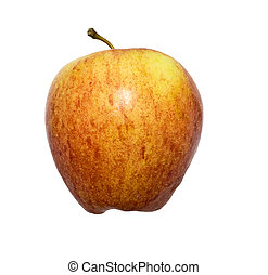 a juicy red apple on a white background