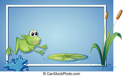 A Jumping Frog Border