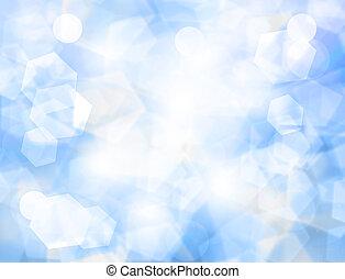 a, kék ég, noha, elhomályosul, elvont, háttér