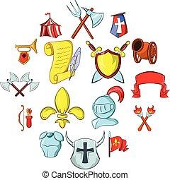 a, középkor, ikonok, állhatatos