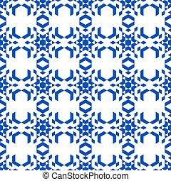 A kaleidoscope of geometric shapes.
