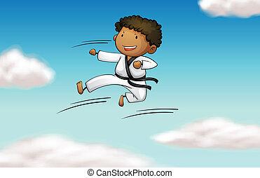 A karate kid