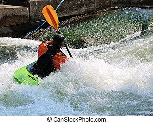 Kayak - A Kayak in the rapids.