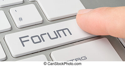 A keyboard with a labeled button - Forum