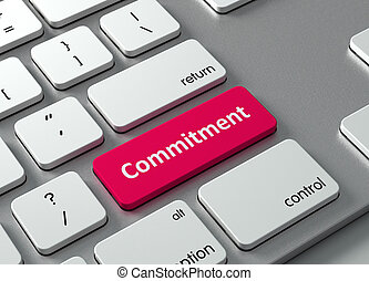 Commitment - A keyboard with a red button-Commitment