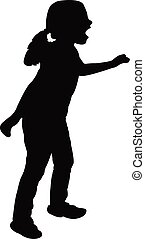 a kid body silhouette