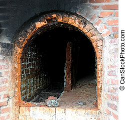 a kiln in the pottery workshop