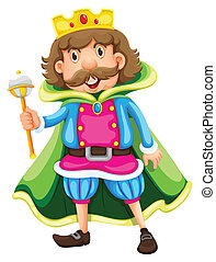 Illustration of a king on a white background