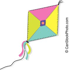 A kite on the white background
