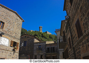 A, Klein, Dorf, In, Toscana