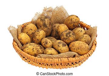 a, korg, av, potatisarna