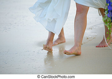 a, lábak, közül, a, menyasszony, és, a, lovász, játék, a parton