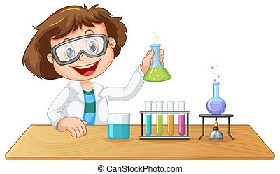 A lab kid character