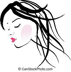 A lady with dreadlocks- dreadlock fashion graphic