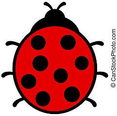 a ladybug back view