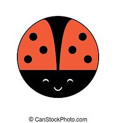 A ladybug illustration. Isolated on white. Vector.