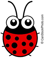 a ladybug with big eyes