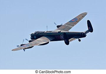 A Lancaster bomber in flight