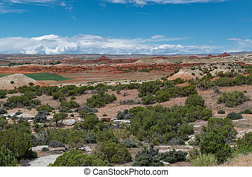 A landscape of the Bighorn Canyon National Recreation Area in Wyoming and Montana, USA