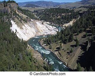 Yellowstone canyon - A landscape of Yellowstone canyon
