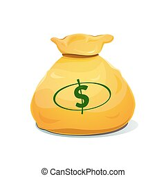 A large bag of money, vector illustration