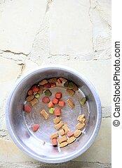 large bowl of dog food