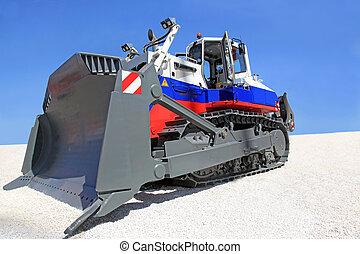 bulldozer - A large bulldozer at a construction site