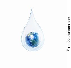 large drop of water - A large drop of water with Earth ...