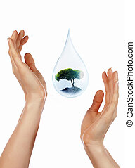 large drop of water