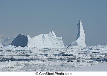 A large iceberg in the Strait