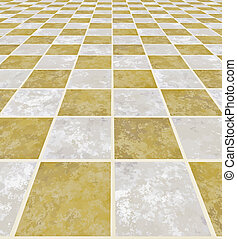 marble floor - a large image of a checkered light marble...