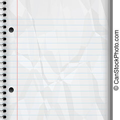 writing pad - a large image of a ruled or lined spiral bound...