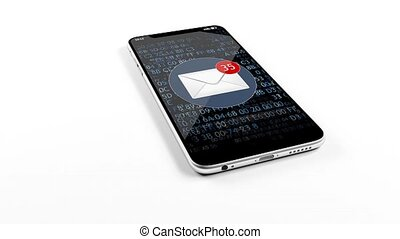 A large number of emails came to your phone. spam 1. - A...
