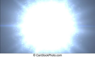 A large number of particles. Disintegrate particles -...