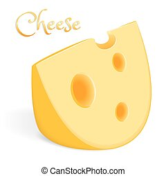 A large piece of cheese