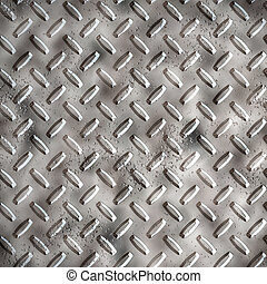 a large sheet of diamond or tread plate metal