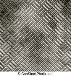 tread plate metal - a large sheet of diamond or tread plate...