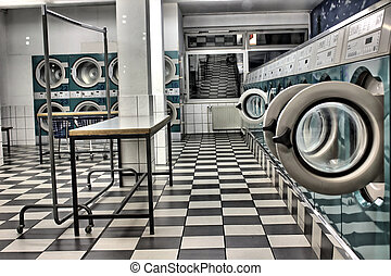 a launderette as a hdr picture