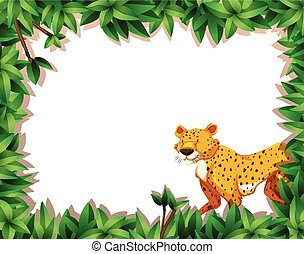 A leopard on nature frame