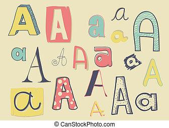 """""""a"""", letra"""