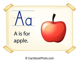 A letter A for apple