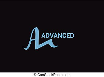 A Letter Advanced Logo Vector Templates Design.