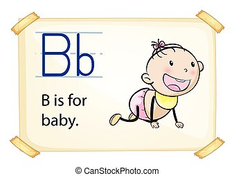 A letter B for baby