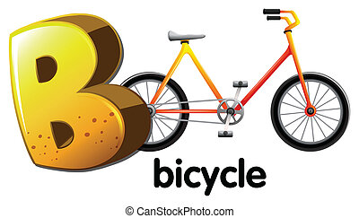 A letter B for bicycle - Illustration of a letter B for...