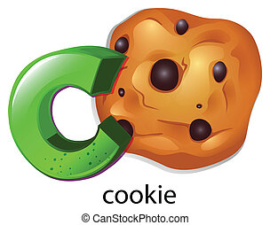 A letter C for cookie