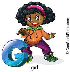 A letter G for girl