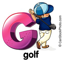 A letter G for golf